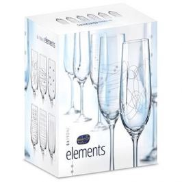 CRYSTALEX Sklenice na šampaňské 190ml 6ks ELEMENTS