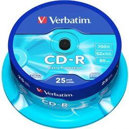 VERBATIM CD-R 700MB, 52x, spindle 25 ks
