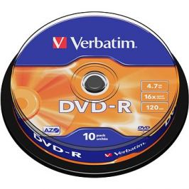VERBATIM DVD-R AZO 4.7GB, 16x, spindle 10 ks