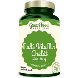 GreenFood Nutrition Multi VitaMin Chelate pro ženy 60cps
